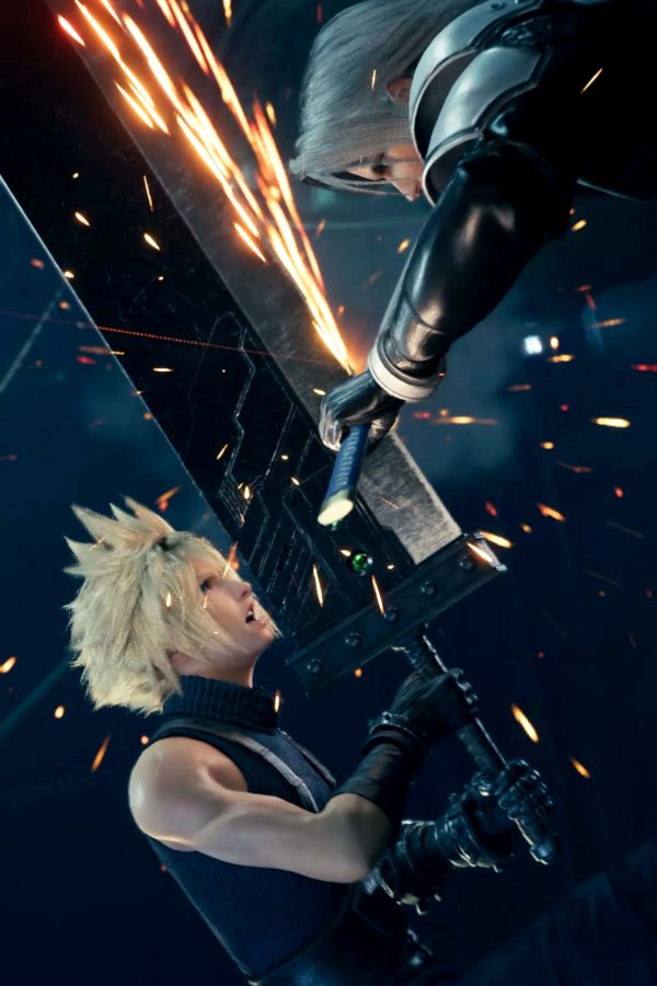 Cloud engaged into a fight
