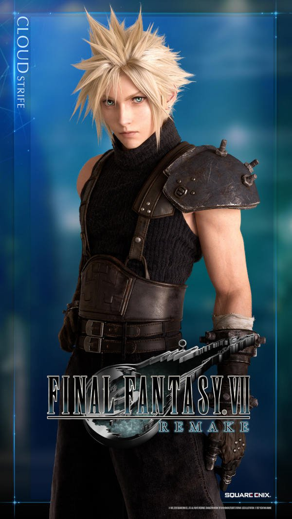 Art from Final Fantasy VII showing Cloud